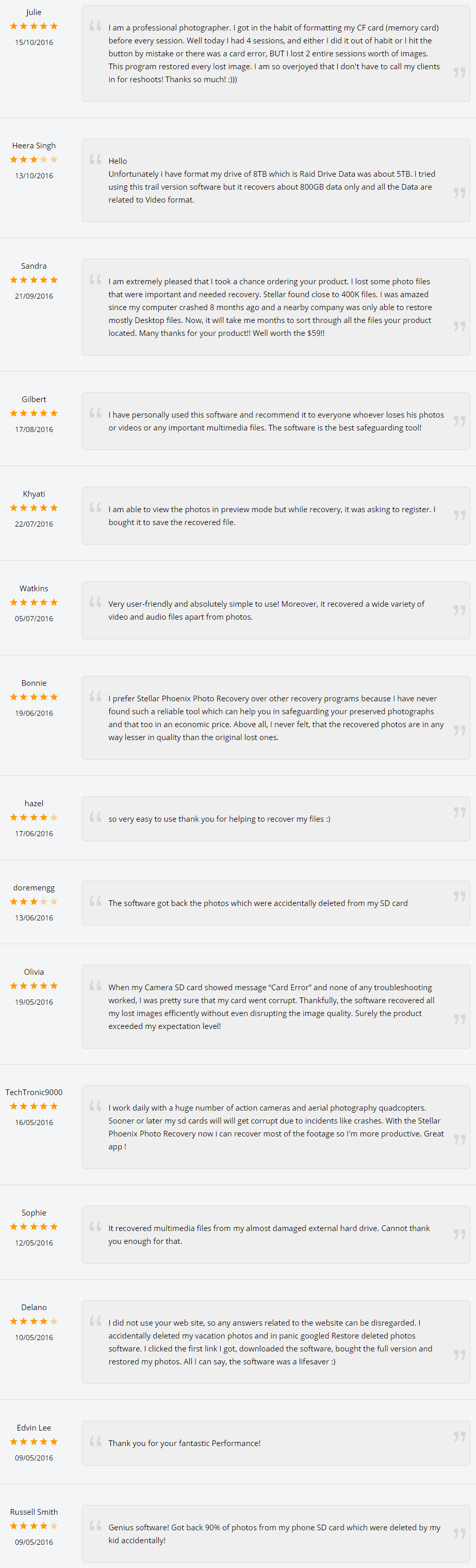stellar phoenix photo recovery software reviews