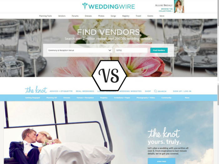 the knot free wedding website review