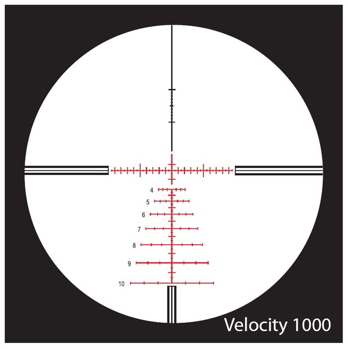 nightforce velocity 1000 reticle review