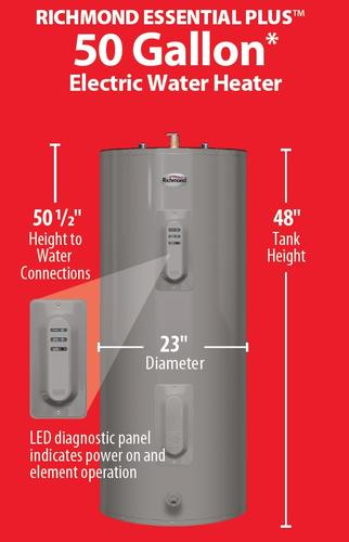 richmond essential water heater reviews