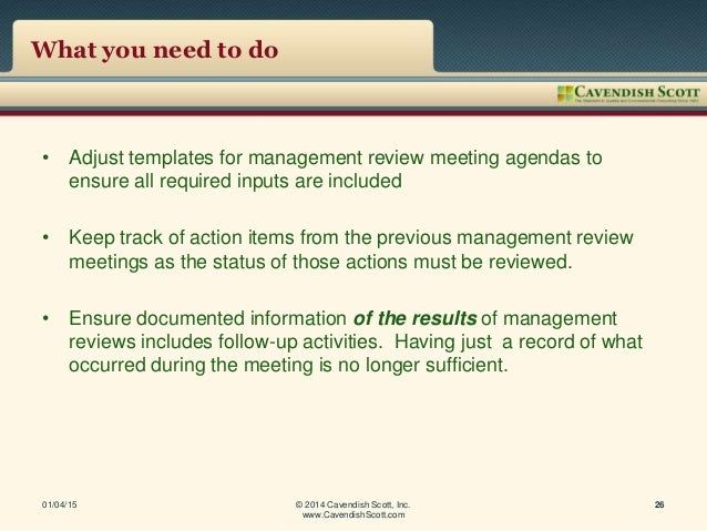 iso 9001 2015 management review meeting minutes sample