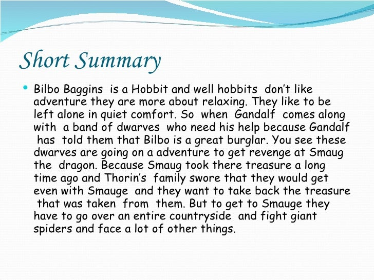 the hobbit book review summary