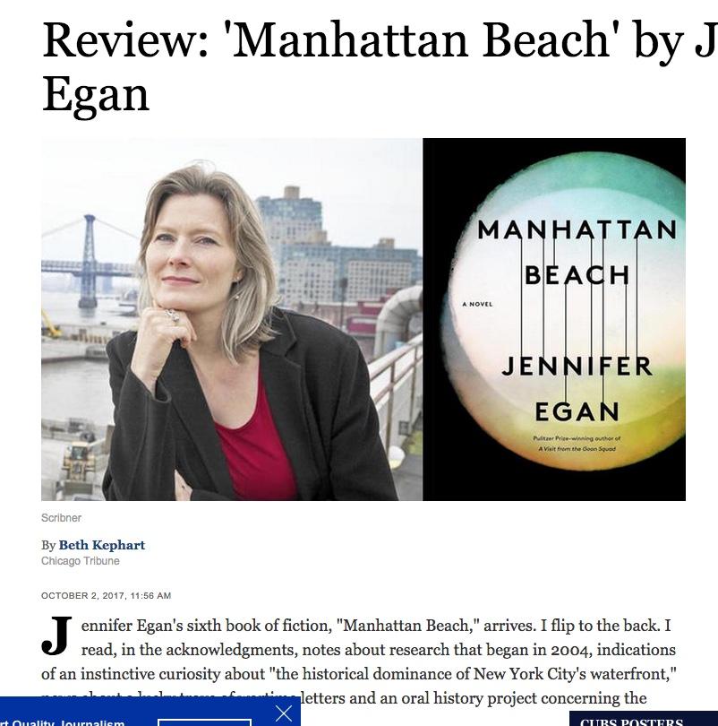 jennifer egan manhattan beach review