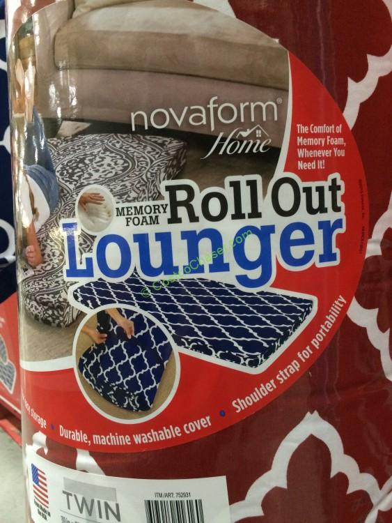 novaform roll out lounger reviews