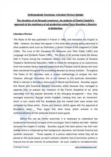 sample review paper journal article