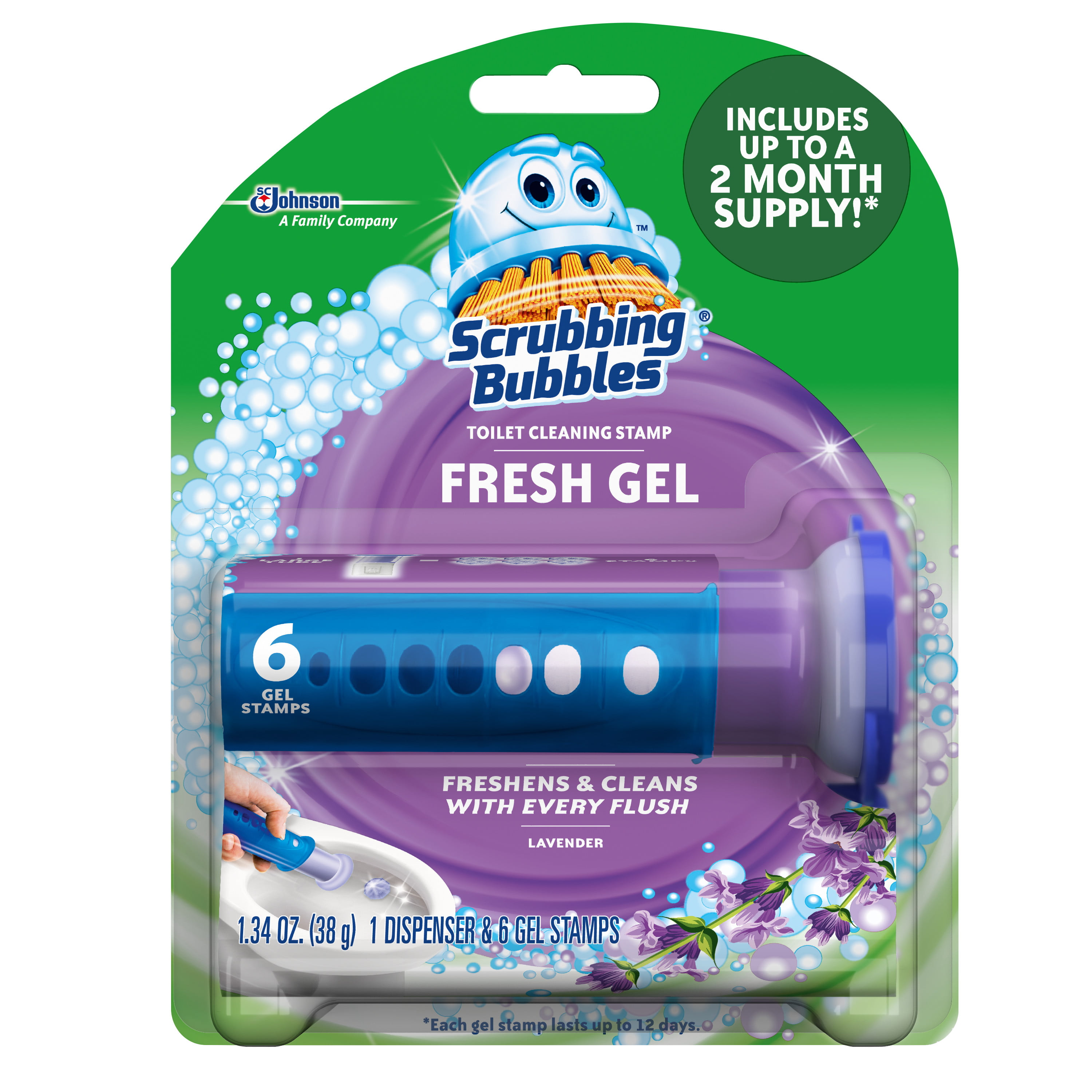 scrubbing bubbles gel stamp review